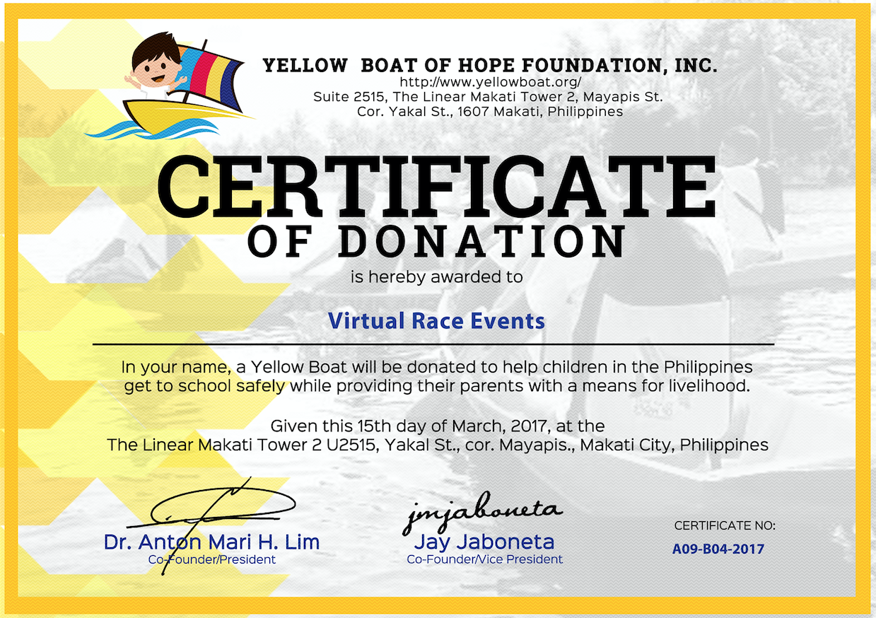 YELLOW BOAT OF HOPE FOUNDATION