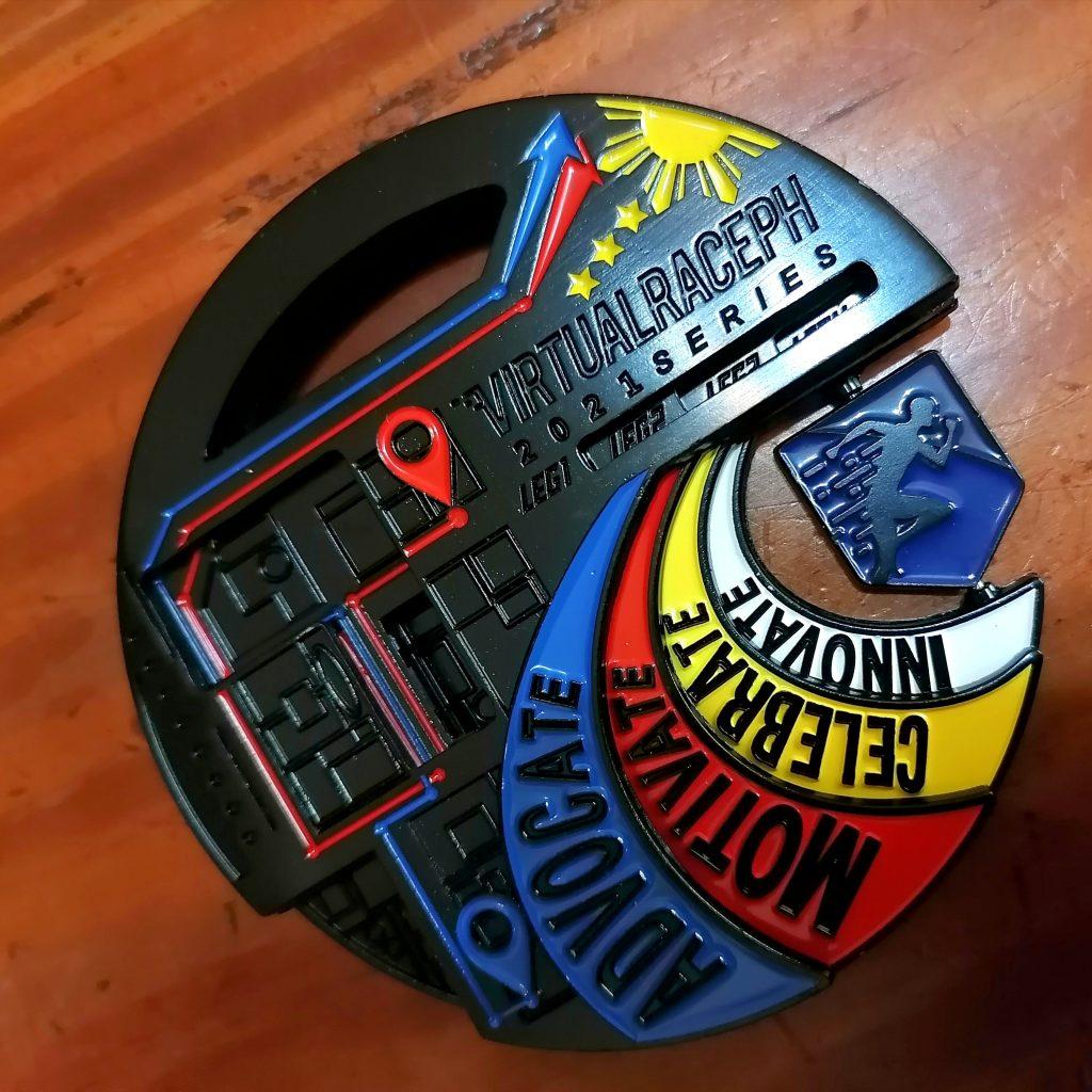 virtualraceph-2021-puzzle-medal-black