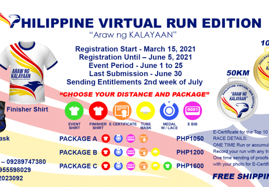 Philippine Virtual Run Edition: Araw ng Kalayaan